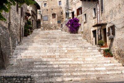 Sticker Einblick in das alte Dorf von Sermoneta