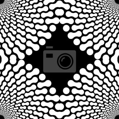 Sticker Eine schwarz-weiße Ecke Rahmen, mit Winkeln eines Knochens Formen Muster Kreis.