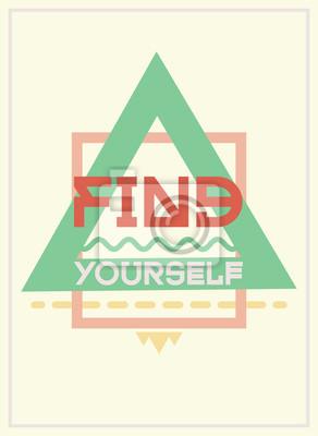 Einfach und stark motivierend Plakat