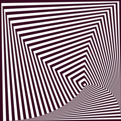 Sticker Einfache abstrakte gestreiften pyramidenförmigen Hintergrund. Optische Täuschung t