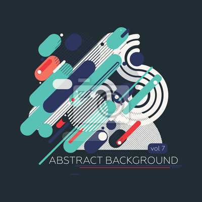 Einfache geometrische Komposition abstrakten Hintergrund