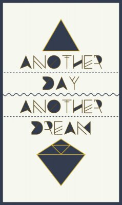 einfache geometrische motivierend Plakat