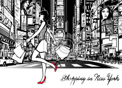 Einkaufen in Times Square - New York