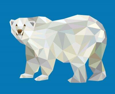 Sticker Eisbär Low-Poly-Vektor