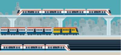 Sticker Eisenbahn, Himmel-Bahn, U, ikonen Objekte