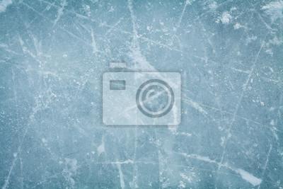 Sticker Eishockey-Rink-Hintergrund oder Textur, Makro, Draufsicht