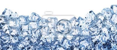 Sticker Eiswürfel Hintergrund. Beschneidungspfad