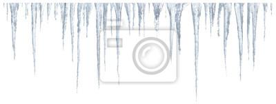 Sticker Eiszapfen auf weißem Hintergrund