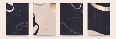 Sticker Elegant abstract trendy universal background templates. Minimalist aesthetic.