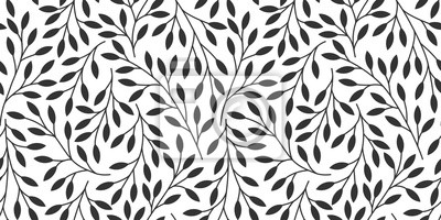 Sticker Elegant floral seamless pattern with tree branches. Vector organic background.