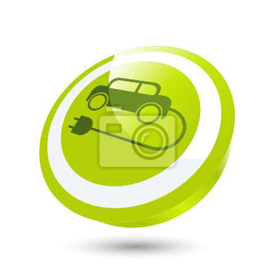 Elektroauto Auto Strom Zeichen Symbol Notebook Sticker Wandsticker