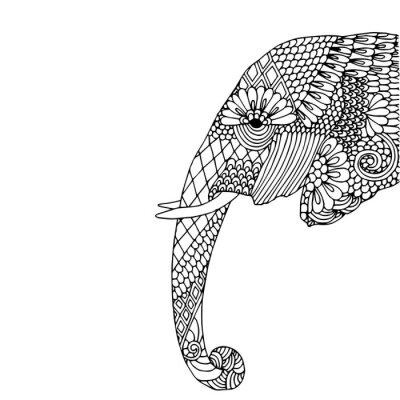 Sticker Elephant Kopf