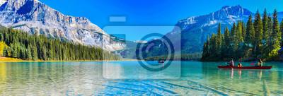 Sticker Emerald Lake,Yoho National Park in Canada,banner size