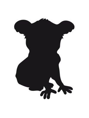 Sticker Entwurf koala schwarz silhouette kühler komischer sitzendes umreiß schatten