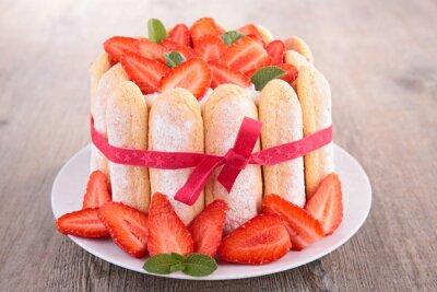 Sticker Erdbeer-Charlotte-Kuchen