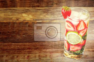 Sticker Erdbeer Mojito