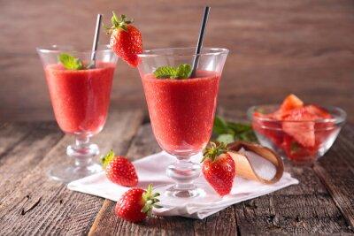 Sticker Erdbeer Smoothie