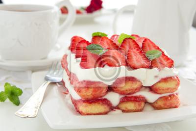 Erdbeer-Tiramisu mit Mascarpone.