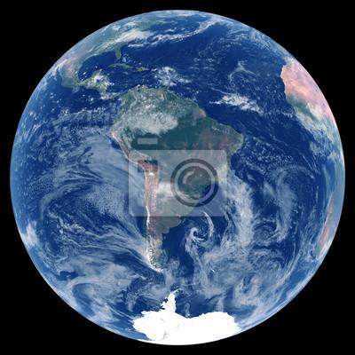 Erde aus dem Weltraum. Elemente dieses Bildes von der NASA eingerichtet.