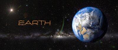 Sticker Erde im Weltraum.