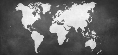 Sticker Erde-Karte auf Hintergrund