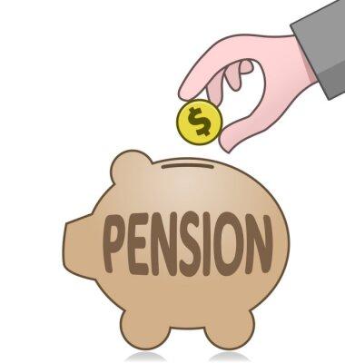 Ersparnisse und Pensionen