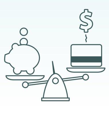 Ersparnisse vs Schulden
