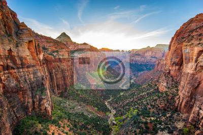 Sticker Erstaunliche Ansicht des Zion Nationalparks, Utah