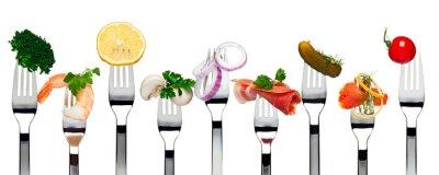 Sticker Essen auf Gabeln