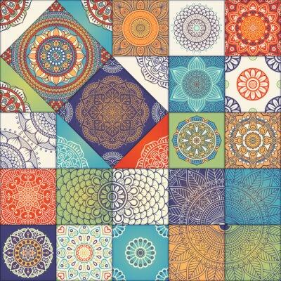 Sticker Ethnische floral nahtlose Muster