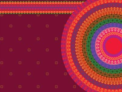 Sticker Ethnische und bunten Henna Mandala Design, sehr aufwändige und leicht editierbaren