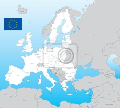 Eu vector map mit Flagge