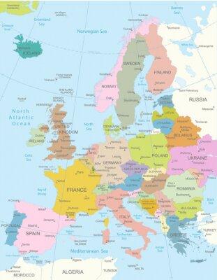 Sticker Europa-hochdetaillierte map.Layers verwendet.