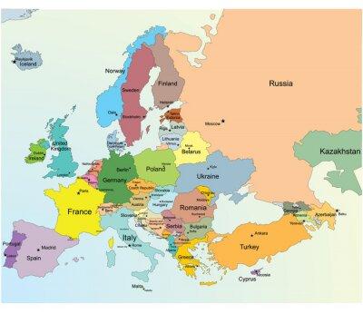 Sticker Europäische Karte.