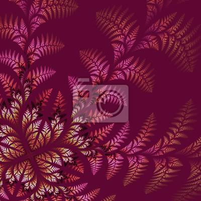Fabulous asymmetrische Muster der Blätter auf weinig Hintergrund