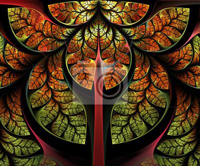 Sticker Fabulous Baum. Computer generierte Grafiken.