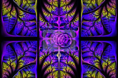 Fabulous fraktalen Muster. Collection - Baum Laub.