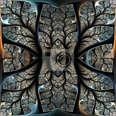 Fabulous fraktalen Muster. Collectiont - Baum Laub. Computer-g