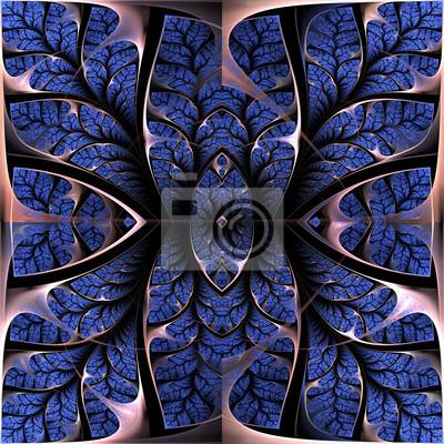 Sticker Fabulous fraktalen Muster. Collectiont - Baum Laub. Computer g