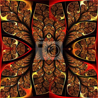 Sticker Fabulous fraktalen Muster. Sammlungt - Baum Laub. Computer g