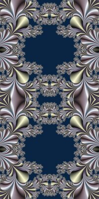 Sticker Fabulous symmetrical background. Magical Satin. You can use it for invitations, notebook covers, phone cases, postcards, cards and so on.