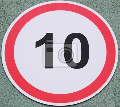 Fahren nur zehn Kilometer unterschreiben