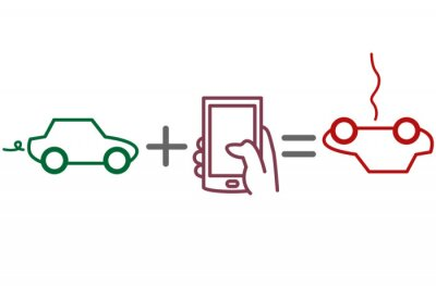 Fahren und Telefonieren Risiko