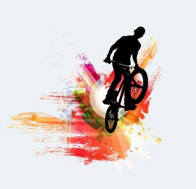 Sticker Fahrradjumper, Sporthintergrund