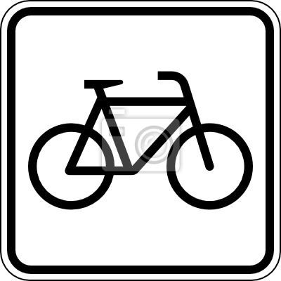 Sticker Fahrzeug Fahrrad Fahren Zweirad Schild Zeichen Symbol