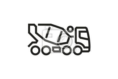 Fahrzeug Icons: Betonmischer LKW 2