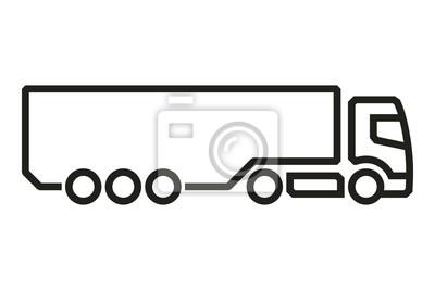 Fahrzeug Icons: Europäische LKW Auflieger 2. Vektor.