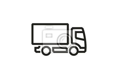 Fahrzeug Icons: European Truck Simple (3). Vektor,