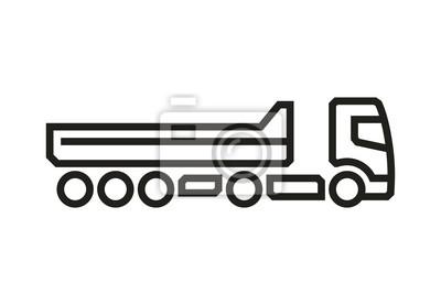 Fahrzeug Icons: Kipper LKW Auflieger. Vektor.
