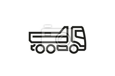 Fahrzeug Icons: Kipper. Vektor.